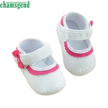CHAMSGEND Best Seller   Baby Little Embroidered Flower Soft Bottom Baby Girl Shoes S35