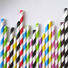 2000pcs Free Shipping promotion colors Chevron Striped and Polka Dot Drinking Paper Straw Wholesale Colorful Paper Straws(China)