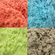 60g Green Purple Blue Orange Pink Play Sand Dynamic Artificial Colored Sand Playdough Baby Super Magic Space Sand For Children