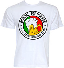 MENS FUNNY NOVELTY PORTUGUESE BEER TEAM PORTUGAL FLAG T-SHIRTS JOKE GIFTS IDEAS Print T Shirts Man Short Sleeve T Shirt