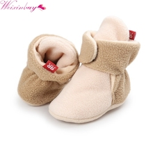 Buy Unisex Baby Newborn Faux Fleece Booties Winter Warm Walker Shoes Infant Toddler Crib Shoes Classic Floor Boys Girls Boots for $2.66 in AliExpress store