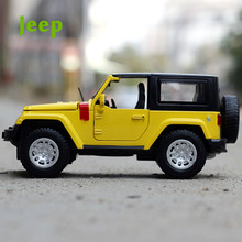 NEW hot 1:32 Jeep Wrangler Rubicon Jeep Toys Car Classic Alloy Antique Car Model collectors Christmas gift doll