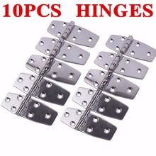"10Pcs AISI 316 Stainless Steel Boat accessories  Marine Flush Door Hinges 3.8""X1.5"" Polished"