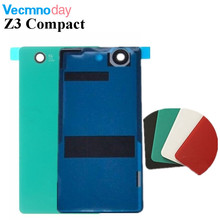 Vecmnoday Sony Xperia Z3 Compact Mini D5803 D5833 Case Glass Battery Housing Cover Replacement Back Cases + NFC - Yu 3C Shop Store store