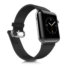 High Quality Classic Buckle Black Color Leather 38mm 42mm for Apple Watch Strap Band For Apple Watches AWCBLS-BK