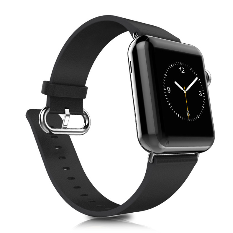 High Quality Classic Buckle Black Color Leather 38mm 42mm for Apple Watch Strap Band For Apple Watches AWCBLS-BK<br><br>Aliexpress
