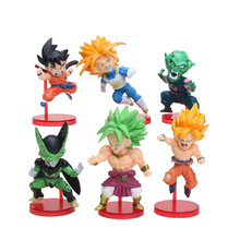 6pcs/set Anime Dragon Ball Z Goku Trunks Cell Piccolo PVC Action Figure Collection Model Toy Gift(China)