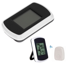 LCD Digital Wireless Ambient Weather Station Indoor Outdoor Temperature Thermometer Humidity Sensor Temperature Tester Meter