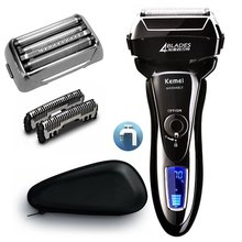 Men's professional electric shaver for men rechargeable electric razor beard face shaving machine Lithium battery LCD display