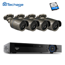 Techage Security Camera CCTV System 4ch 1080P POE NVR Kit 4pcs 2.0MP IP Camera HDMI Video Output Surveillance Set Motion Detect