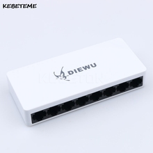 KEBETEME High Performance Mini Network Switch HUB RJ45 8 Port 10/100Mbps Fast LAN Ethernet Network Switch Adapter + Power Supply(China)
