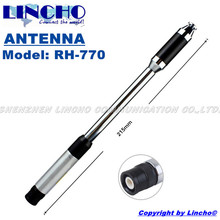 RH770 Centre Loaded Telescopic High Gain DUAL BAND 144/430MHz Antenna BNC for  V8 bnc walkie talkie