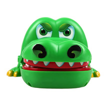 Lovely Green Large Crocodile Mouth Dentist Bite Finger Game Funny Toy Children Kids Boys Girls Gift Gags Novetly Practical Jokes(China)