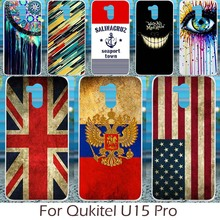 Akabeila Silicon Phone Case For Oukitel U15 Pro Cover Mexico France Russia Croatia UK United Kingdom Flag Pattern Fudnas