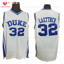 Wholesale Mens Cheap Throwback Basketball Jerseys #32 Christian Laettner Jersey Duke University Stitched Basketball Shirts(China)