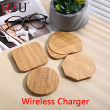 R&U Bambo Wooden Qi Wireless Charger Charging Pad For Samsung S7Active S7 Edge S7S6 Active S6 Edge+  S6 Edge S6 Note 5