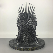 Game of Thrones action figure Toys Sword Chair Model Toy A Song of Ice and Fire The Iron Throne Resin Desk Collection Gift 17cm(China)