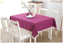 Free shipping Home Textile Cotton Tablecloth Rectangular Table cloth  Round Tablecloths Square  linen cloth Solid color Table co