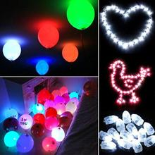 50Pcs/Lot Birthday Balloons 6 Colors LED Light Up Balloon Light LED Balloon Christmas Party Wedding Decor Event Party Supplies(China)
