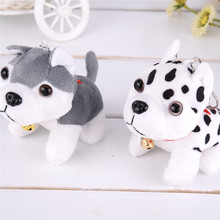 Hot 11.5X9.5cm Puppy Toys Husky Plush Toys Spotty Dog Stuffed Animal Plush Toy for Children Christmas Gifts Puppy Plush Toys(China)