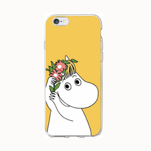 2017 Fashion cartoon animals fairy tale cute moomin hippo genius joy doll high definition soft tpu cell phones case For Iphone