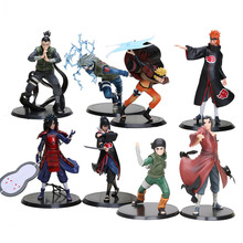 2pcs/set Anime Naruto Uchiha Madara Uchiha Sasuke PVC Action Figures Model Toys