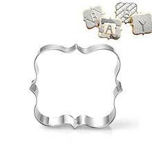 Stainless Steel Blessing Wedding Plaque Frame Fondant Cookie Cutter Biscuit Sugarcraft Kitchen Mould Baking Pastry Tool A011-3