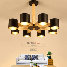 Nordic IKEA solid wood ceiling lamp living room Ceiling lights bedroom restaurant LED simple creative lighting