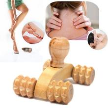 2017 Hot Sale Wooden Car Roller Massage Reflexology Hand Foot Back Body Therapy Relaxing Gifts pure natural wood massage health