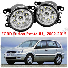 for FORD FUSION (JU_) 2002-2015 automotive styling modified front bumper LED fog lamps LED daytime running lights 12V.1set
