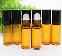 1000pcs Free Shipping Refillable bottle 5ml 1/6oz MINI ROLL ON fragrance PERFUME GLASS BOTTLES ESSENTIAL OIL plastic Roller ball