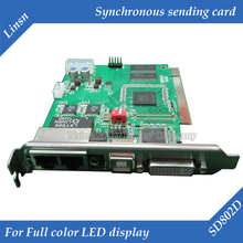LED Linsn TS802D control system Sending card For full color display LED controller card