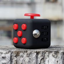 Multi-color Hot Anti-anxiety Stress Reliever Fingertip Dice Fidget Cube Plastic Hand For Autism/ADHD Focus Toys Gift