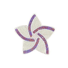 Sequins 19.cm Flower Logo Patch Embroidered Sticker Patches For Clothing Deal With It Clothes Fabric Badges Motif Applique