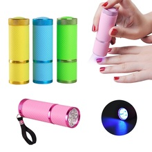 Biutee Nail Dryer Mini LED Flashlight UV Lamp Portable For Nail Gel Fast Dryer Cure 4 Colors Choose Nail Gel Cure Manicure Tool(China)
