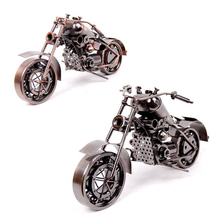 New Creative personality iron motorcycle model iron handicrafts showcase household decorative furnishing articles Figurines