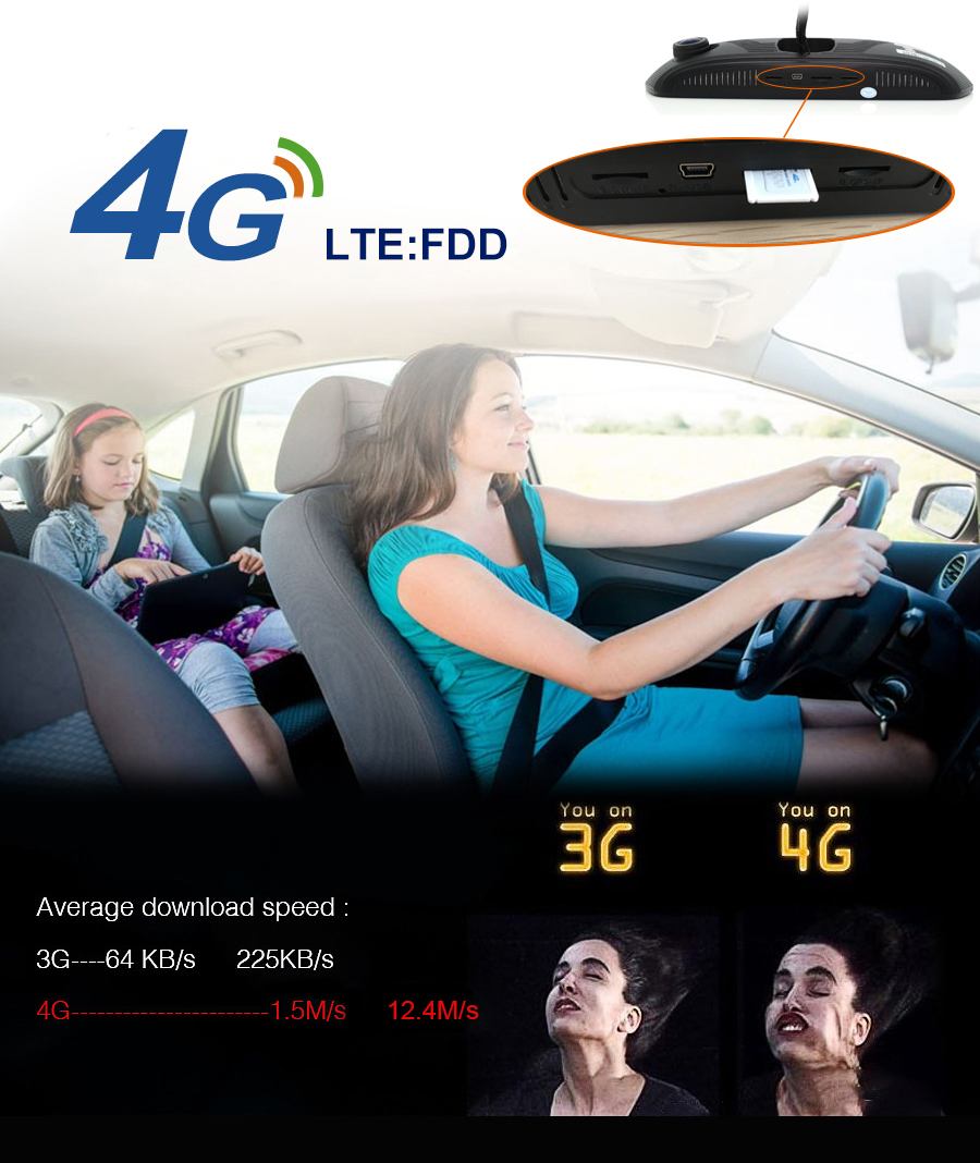 """Junsun 8"""" 4G Newest Mirror Car DVR Camera Android 5.1 with GPS DVRs Automobile Video Recorder Rearview Mirror Camera Dash Cam 5"""