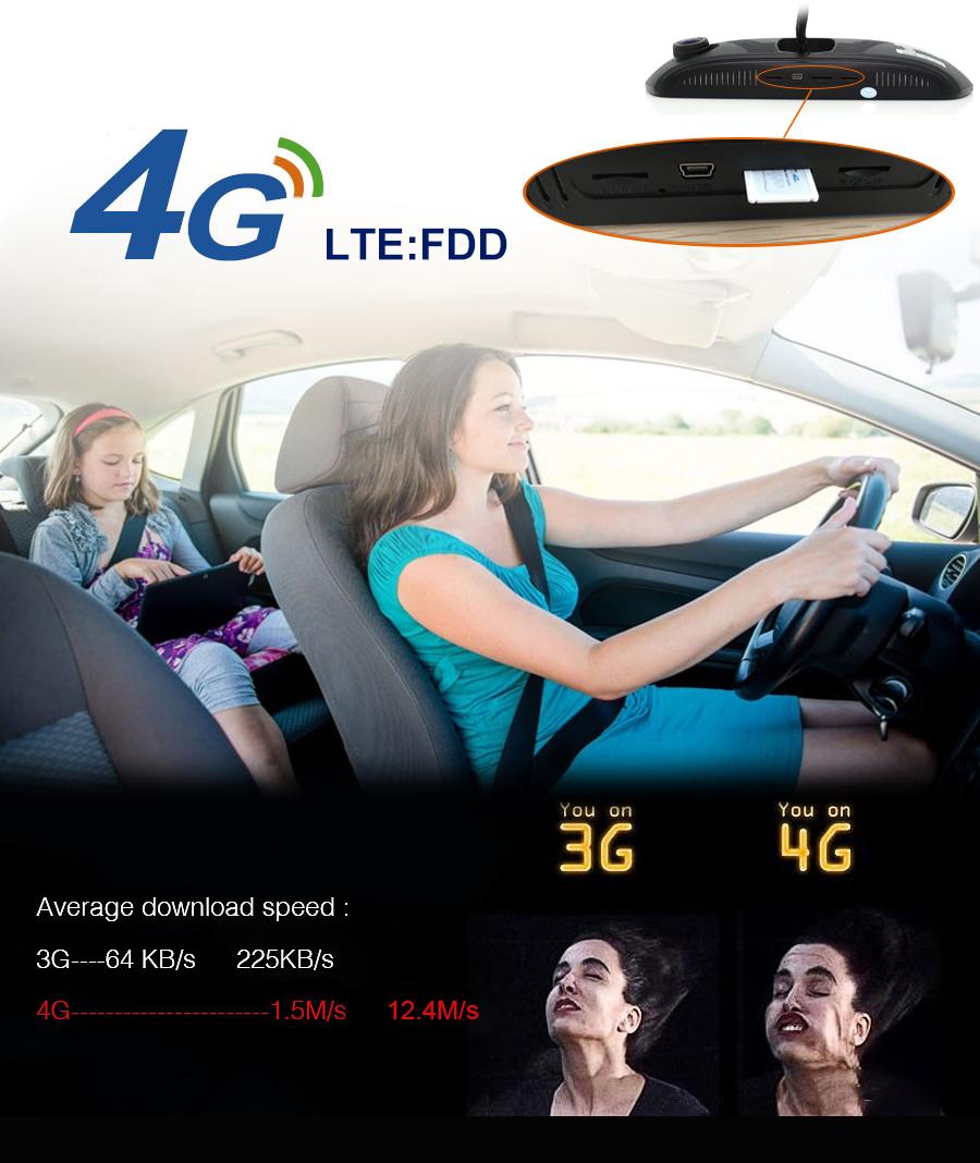 "Junsun 8"" 4G Special Mirror Car DVR Camera Android 5.1 with GPS DVRs Automobile Video Recorder Rearview Mirror Camera Dash Cam 4"