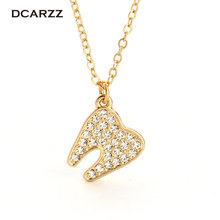 Buy Crystals Human Tooth Pendant Dentist Necklace,Silver/Gold Colors Plated Medical Jewelry Gift Doctor/Nurse for $2.97 in AliExpress store