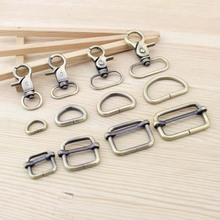 Bag Parts & Accessories Luggage Bronze Straps buckles Snap hook/Dog,Bag hanger Lobster Clasp D ring 8set/lot