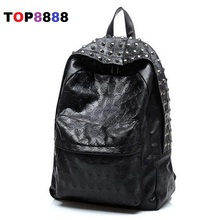 Best Selling New Arrival 2017 Men's Skull Backpack School Bag Rivet Vintage Female Bags Ghost Design Backpack For Students