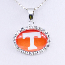 Necklace NCAA Tennessee Volunteers Charm Pendant University Basketball Jewelry for Women Gifts Party Birthday Wholesale 2017(China)