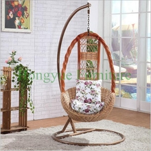 Living room natural rattan table chair hammock designs