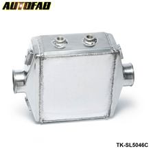 "AUTOFAB -Turbo Water to Air Intercooler 250 X 220 X 115mm Inlet/Outlet: 3"" Front Mount Aluminum Turbo Intercooler TK-SL5046C"