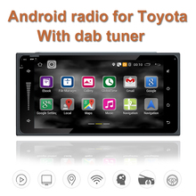 With dab tuner android Quad Core 2 din car radio gps navigation Wifi+Bluetooth+Radio for Toyota Hilux Camry Corolla Prado RAV4
