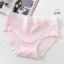 Buy Cotton Middle Waist Solid Women Panties Breathable Soft Cute Lovely Woman Breifs Girls Underwear Knickers Calcinha Underpants