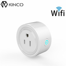 KINCO WIFI AC 100-240V Smart Mini Regular Mobile Phone APP Remote Switch Socket Smart Home Automation for IOS/Android Phones(China)