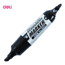 Deli double side Permanent waterproof Large capacity oil ink graffiti Marker sharpie paint pens for writing tires fabric metal