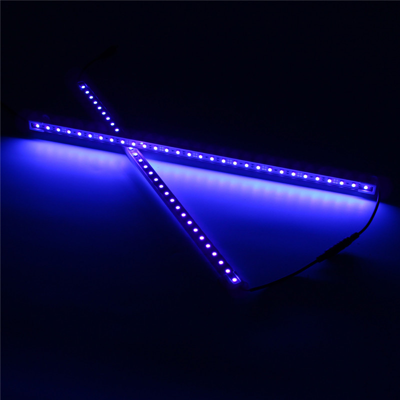 Mising 2PCS 50cm UV Purple Lights 30 LED Strip Light 5050smd LED Neon Tube Perfect For Party Halloween Light(China)