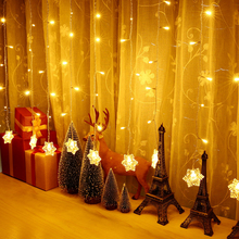 Holigoo Outdoor Fairy Curtain String Light Holiday Lighting 2M*0.6M 60LED Snowflake Home Decoration Christmas Lights Waterproof(China)